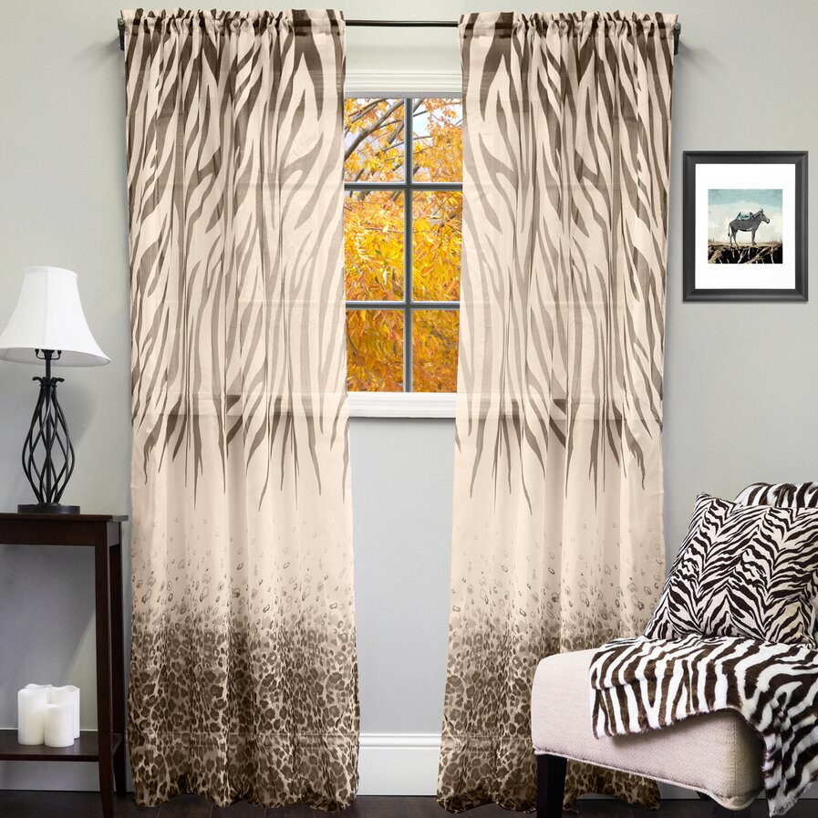 Sheer printed curtains