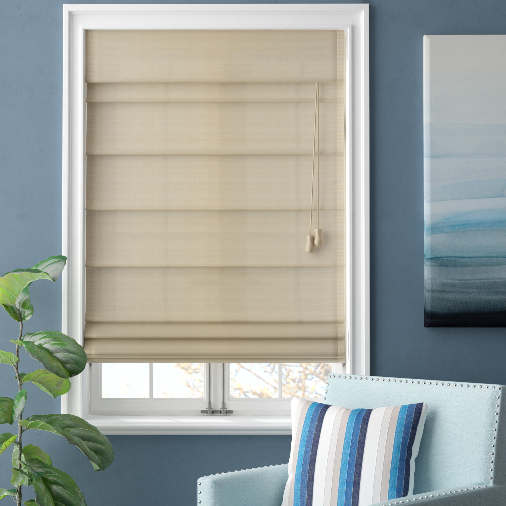 Beachcrest Home Blackout Roman Shade & Reviews | Wayfair