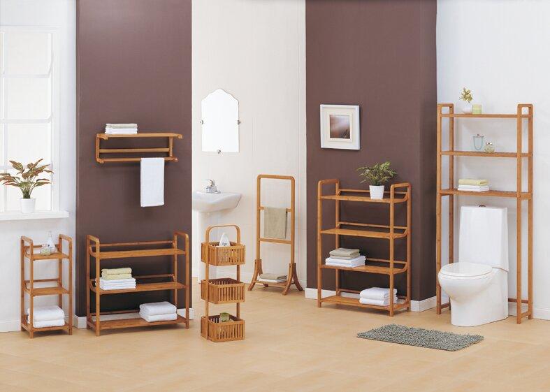 Bamboo bathroom space saver