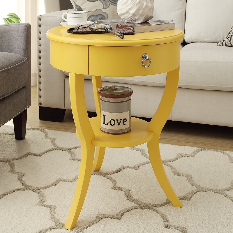 Yellow end table