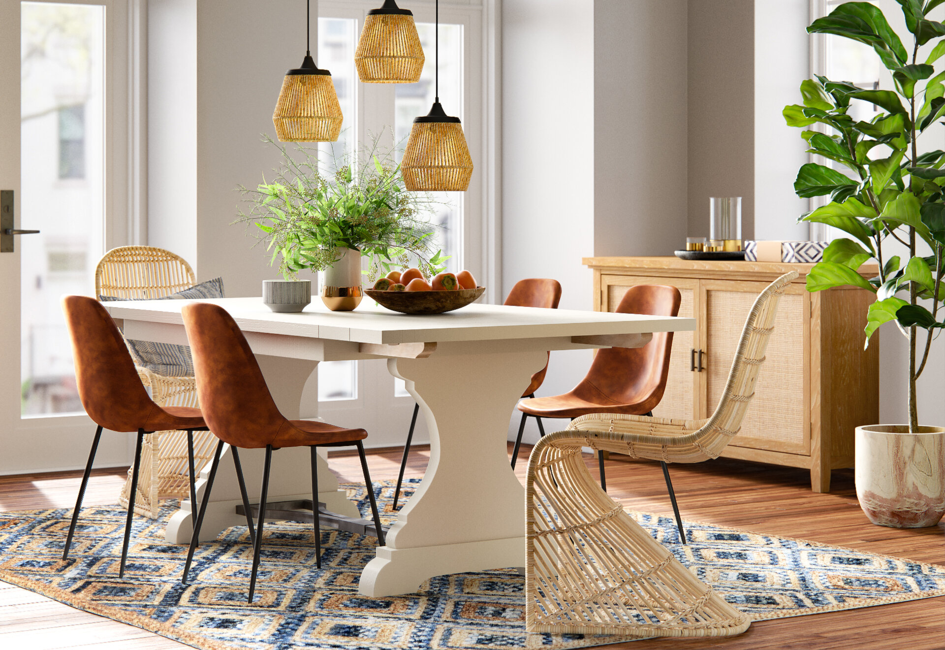 mix and max dining chairs