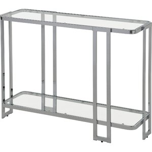Jewell Glass And Metal Console Table