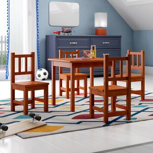 wooden table chairs wayfair