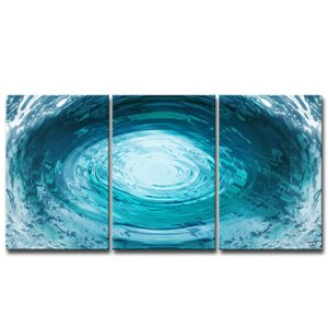'Aqueous Trance XXIX' by Tristan Scott 3 Piece Graphic Art on Wrapped Canvas Set by Ready2hangart
