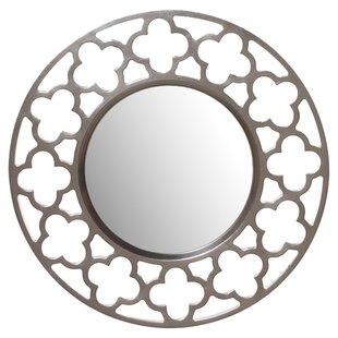 Rosdorf Park Angora Round Nickel Wall Mirror