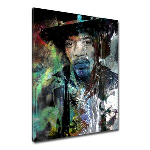 Iconic 'Jimmy Hendrix' Print of Painting by Ready2hangart