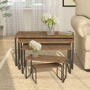 Compare prices Jackie 5 Piece Nesting Table By Gracie Oaks
