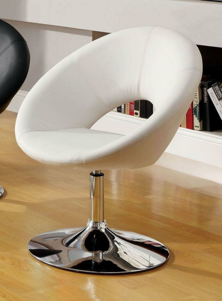 Orren Ellis Djerf Leatherette Upholstered Swivel Club Chair   Wayfair