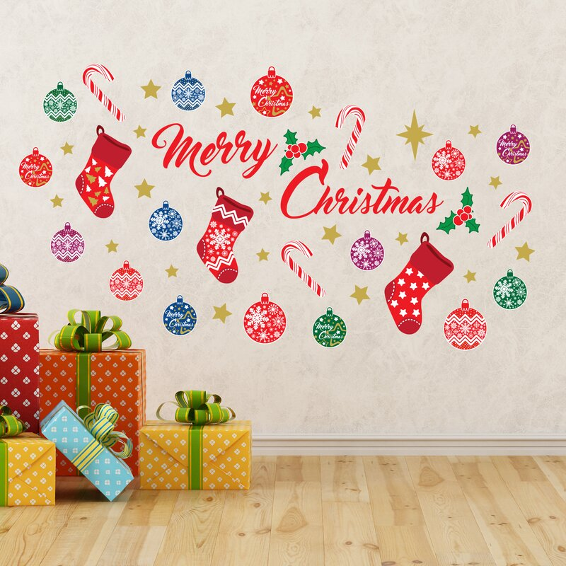merry christmas wall decal - Christmas Wall Decal