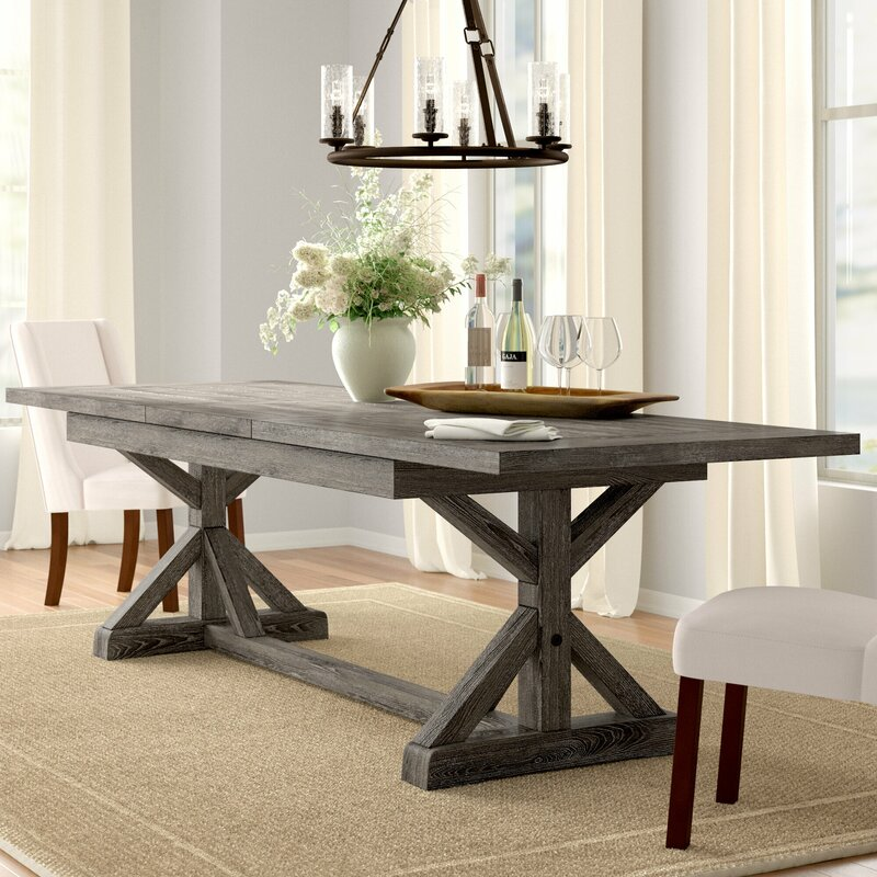 Three Posts Dumfries Extendable Dining Table Reviews Wayfair