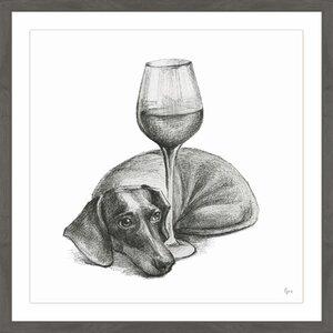 'Wine Is Me II' Framed Drawing Print by Red Barrel Studio