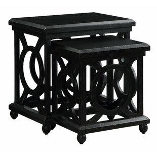Sherlene Distressed 2 Piece Nesting Tables