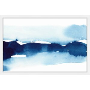 'Mist on the Lake' Framed Watercolor Painting Print by George Oliver