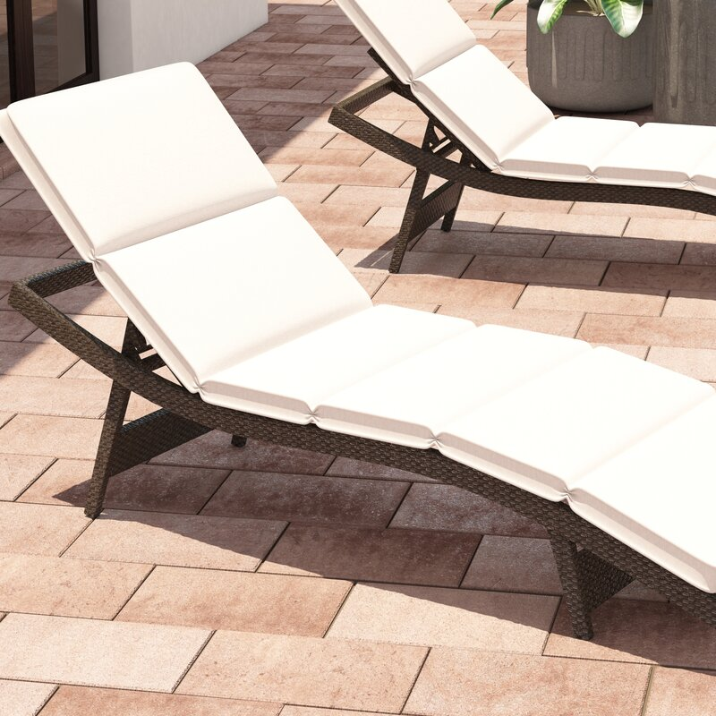 Fortenberry Outdoor Chaise Lounge Cushion : garden chaise lounge - Sectionals, Sofas & Couches