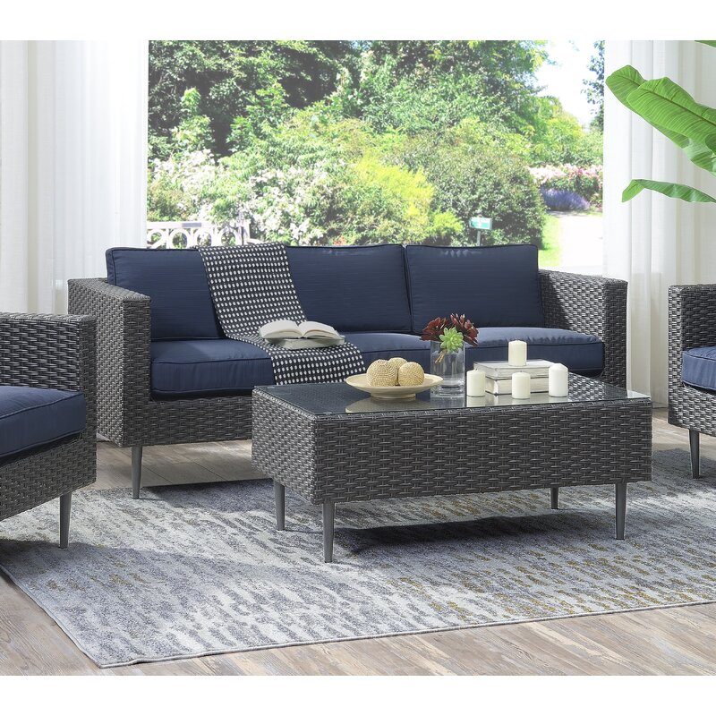 Charters Towers 4 Piece Sofa Set with Cushions