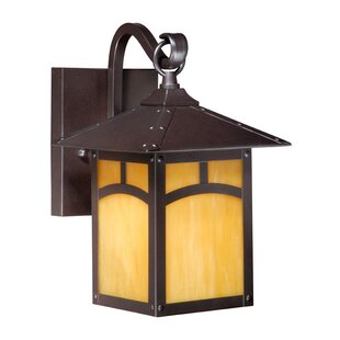 Compare Pompa 1-Light Outdoor Wall Lantern By Loon Peak