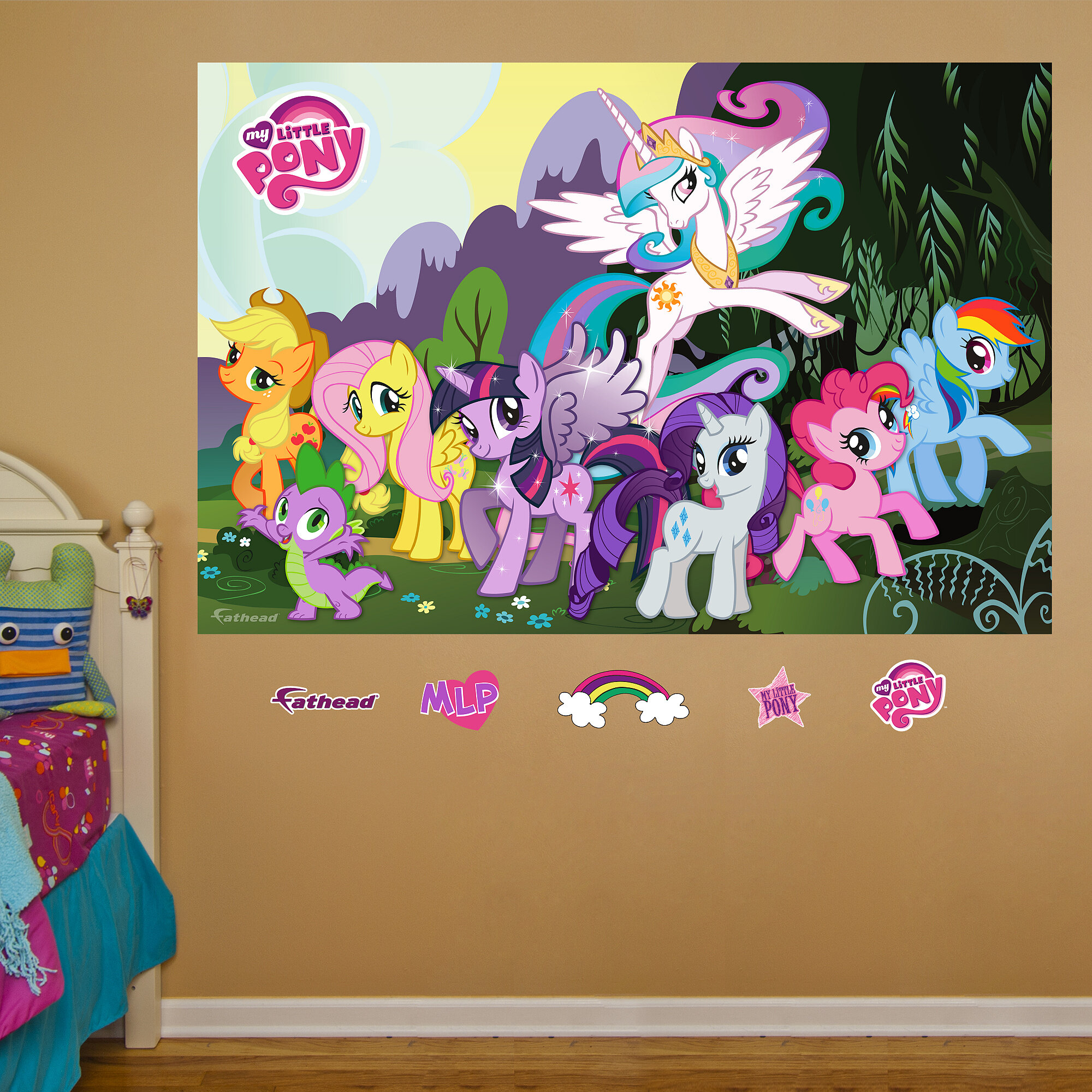 sc 1 st  Wayfair & Fathead Hasbro My Little Pony Peel and Stick Wall Decal | Wayfair