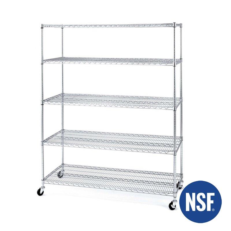 Wayfair Basics™ Wayfair Basics 5 Shelf XL Wire Shelving Unit ...