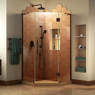 Best Reviews Prism Plus 34 in. D x 34 in. W x 72 in. H Frameless Hinged Shower Enclosure ByDreamLine