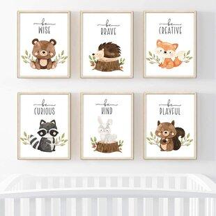 Digital Download File Childrens Kids Boys Girls Nursery Bedroom Print At Home Fox Poster Print Wall Art