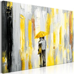Wee Blue Coo Yellow Lemon Splash Water Black Unframed Wall Art Print Poster Home Decor Premium