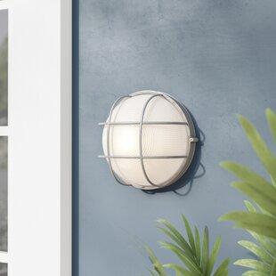 Buy clear Rivka 1-Light Outdoor Bulkhead Light By Beachcrest Home