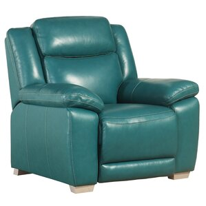 Evansburg Leather Manual Recliner by Red Barrel Studio