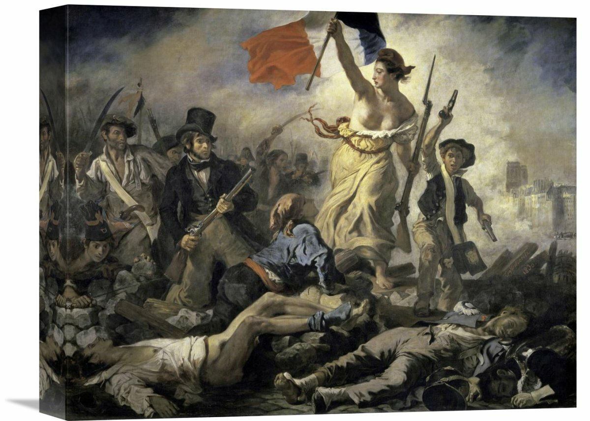 Global Gallery Liberty Leading The People By Eugene Delacroix