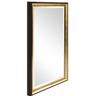 Willa Arlo Interiors Brinley Rectangle Gold Trimmed Wall Mirror