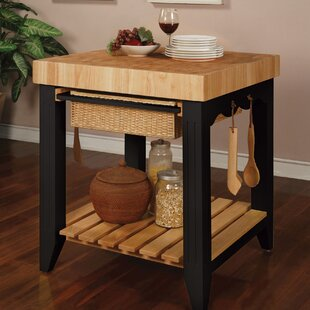 kitchen prep table marble behling prep table with butcher block top kitchen station wayfair
