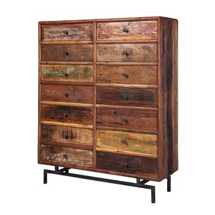 Indian 14 Drawer Accent Chest