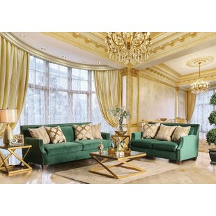 Justine 2-pcs Living Room Set by Andrew Home Studio