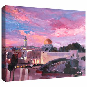 'Jerusalem' by Martina and Markus Bleichner Painting Print on Wrapped Canvas by ArtWall
