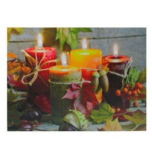 'LED Lighted Bountiful Autumn Harvest Thanksgiving' Photographic Print on Canvas by The Holiday Aisle