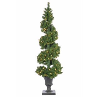 5 green artificial christmas tree with 150 clear lights - Pre Lit Outdoor Christmas Tree