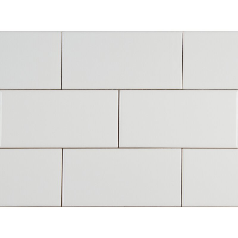 Glossy 4 X 16 Ceramic Subway Tile In White Reviews Allmodern