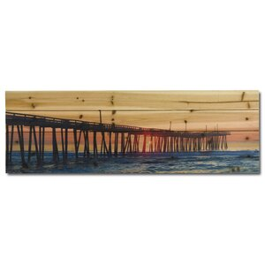 'A Long Pier' Photographic Print on Wood by Gallery 57