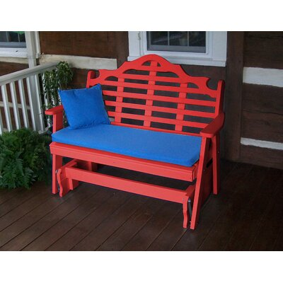 "Hogue Glider Garden Bench Bloomsbury Market Size: 41"" H x 52"" W 27"" D, Color: Bright Red"