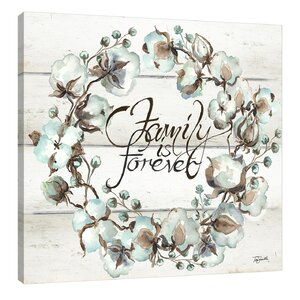 'Family Is Forever Wreath' by Tre Sorelle Studios Framed Painting Print by Jaxson Rea