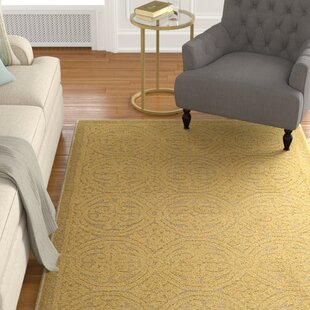 Cambridge Hand-Tufted Wool Gold Area Rug by Darby Home Co