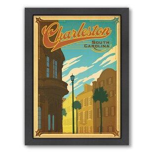charleston framed vintage advertisement charleston vintage futon   wayfair  rh   wayfair