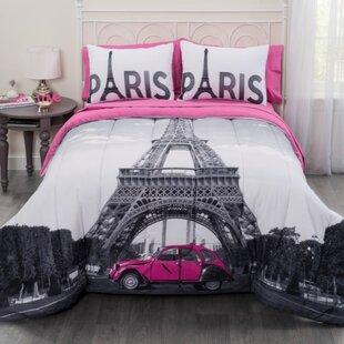 Superbe Paris Eiffel Tower Comforter Set
