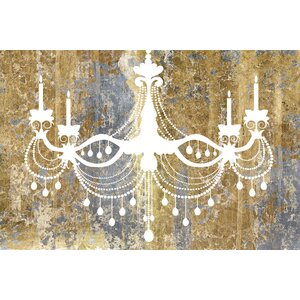 Gilded Chandelier Graphic Art on Wrapped Canvas by House of Hampton