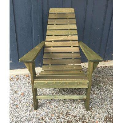 Fruitland Adirondack Chair Highland Dunes Color: Linden Leaf Stain