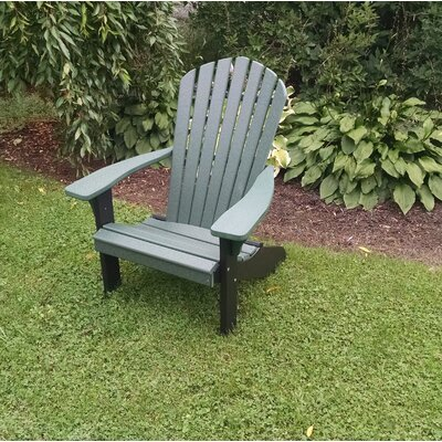 Risch Plastic Adirondack Chair Brayden Studio Color: Turf Green/Black