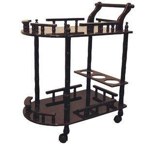 Zabala 2 Tier Wine Bar Cart by World Menagerie