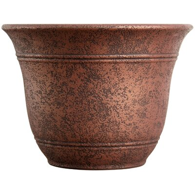 Sierra Resin Pot Planter Myers/Akro Mills Size: 9.6'' H x 13'' W x 13 D, Color: Rustic Redstone
