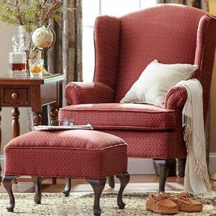 Fabulous Ruthanne Wingback Chair And Ottoman Creativecarmelina Interior Chair Design Creativecarmelinacom
