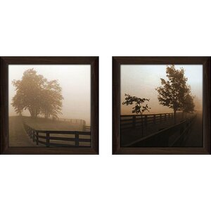 In the Middle' 2 Piece Framed Photographic Print Set Under Glass by Loon Peak
