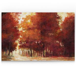 'Afternoon Light' Oil Painting Print on Wrapped Canvas in Red by Alcott Hill